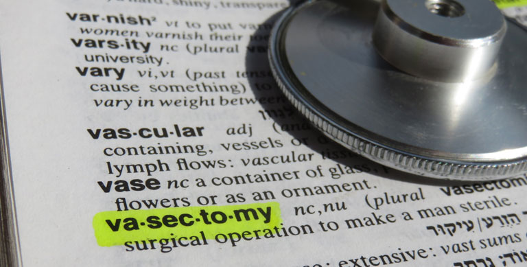 Vasectomy - dictionary definition